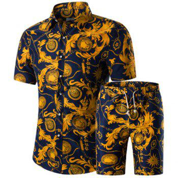 Blue African Men S Shirt With Design On The Hemming