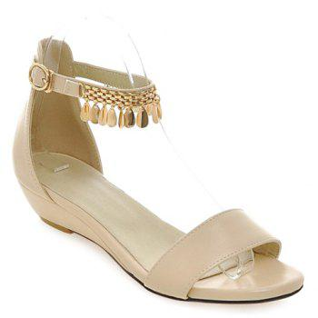 Casual Solid Color and Metal Design Women's Sandals