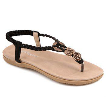 Simple Weaving and Elastic Design Women's Sandals