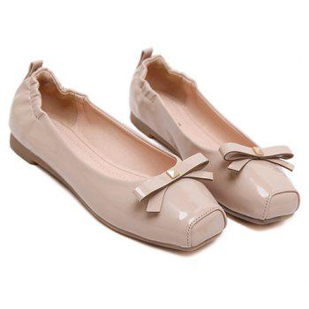 Casual Bowknot and Square Toe Design Women's Flat Shoes - 35 35