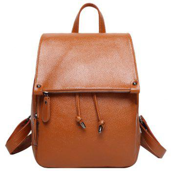 Fashion Solid Color and Drawstring Design Women's Satchel