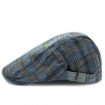 Stylish Plaid Pattern Men's Casual Cabbie Hat