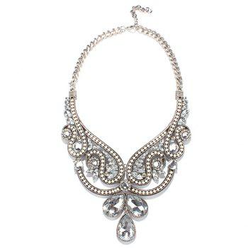 Alloy Faux Crystal Necklace
