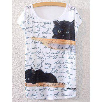 Kitten Print Short Sleeve T-Shirt