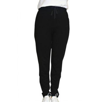 Active Style Women's Lace Up Solid Color Sport Pants