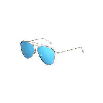 Chic Silver Alloy Sunglasses For Women - SILVER SILVER
