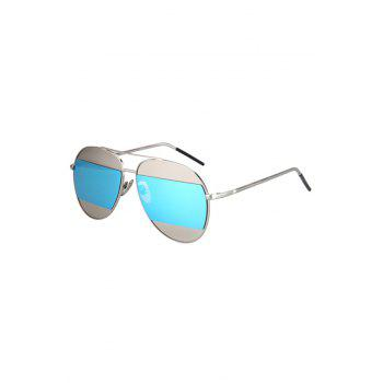 Chic Irregular Lenses Silver Alloy Sunglasses For Women - LIGHT BLUE LIGHT BLUE
