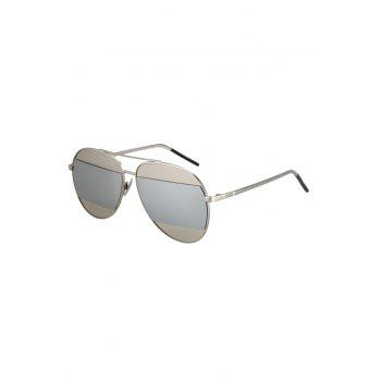 Chic Irregular Lenses Silver Alloy Sunglasses For Women - SILVER SILVER