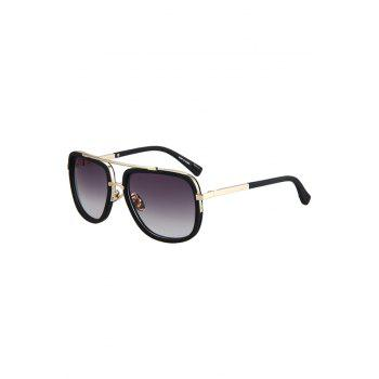 Chic Alloy Match Matte Black Quadrate Frame Sunglasses For Women