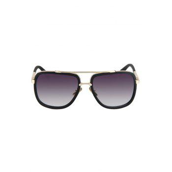 Chic Alloy Match Matte Black Quadrate Frame Sunglasses For Women -  BLACK