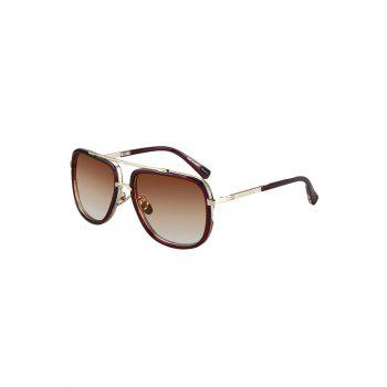 Chic Alloy Match Tea-Colored Frame Sunglasses For Women - TEA-COLORED TEA COLORED