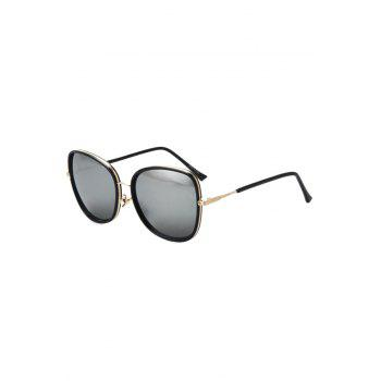 Chic Alloy Match Black Big Frame Sunglasses For Women - SILVER SILVER