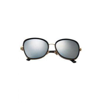 Chic Alloy Match Black Big Frame Sunglasses For Women -  SILVER