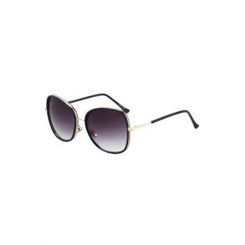 Chic Alloy Match Black Big Frame Sunglasses For Women - PURPLE PURPLE