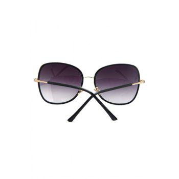 Chic Alloy Match Black Big Frame Sunglasses For Women -  PURPLE