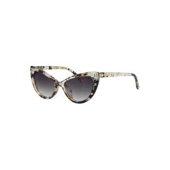 Chic Letter T Shape Inlay Flower Sunglasses For Women