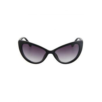 Chic Letter T Shape Inlay Sunglasses For Women - BLACK