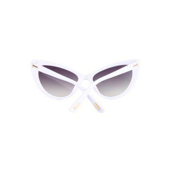 Chic Letter T Shape Inlay Sunglasses For Women -  WHITE