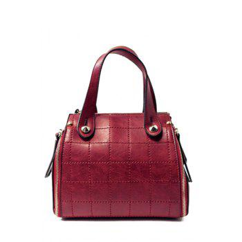 Fashionable Stitching and PU Leather Design Tote Bag For Women