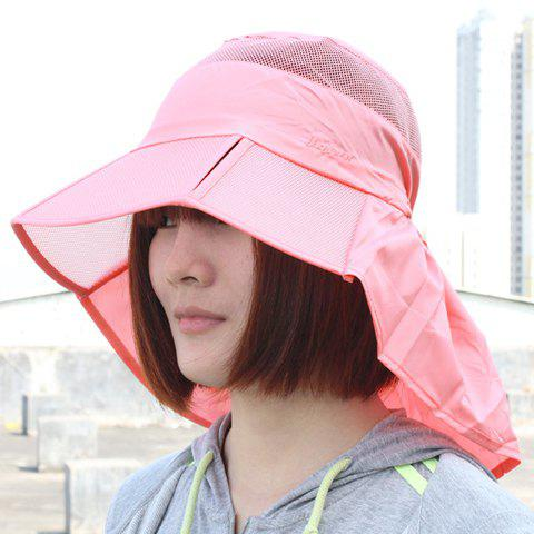 Chic Drawstring Sun-Resistant Breathable Women's Sun Hat - PINK