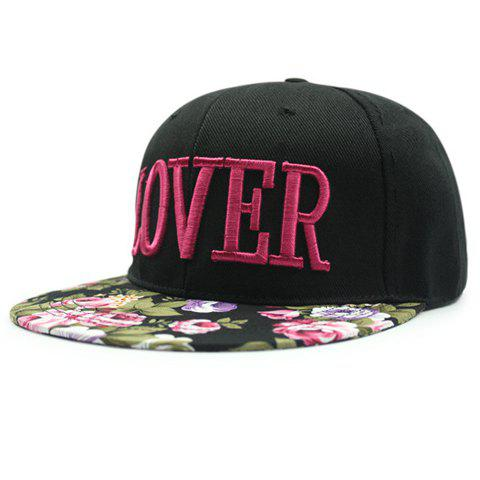 Chic Letter Shape Embroidery Flower Pattern Brim Womens Baseball CapAccessories<br><br><br>Color: ROSE