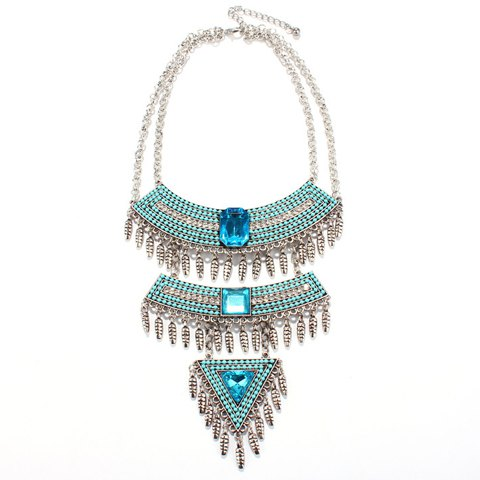 Charming Rhinestone Multilayered Geometric Necklace For Women