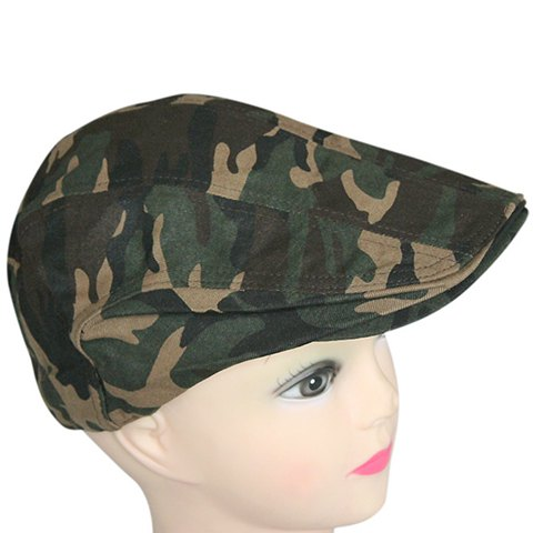 Stylish Camouflage Pattern Cabbie Hat - ARMY GREEN