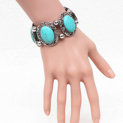 Gorgeous Oval Fake Turquoise Hollow Out Bracelet For Women киноведческие записки 110 2015