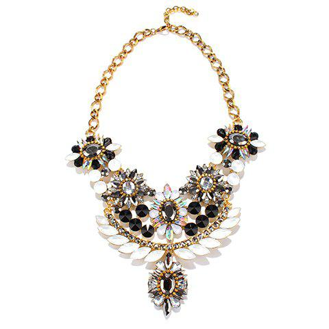 Chic Alloy Faux Crystal Jewelry Necklace  For Women