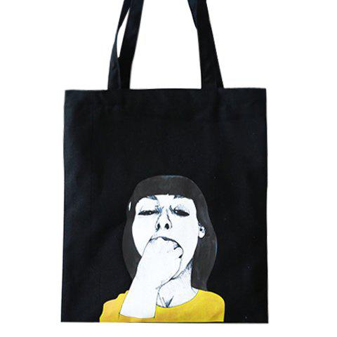 Leisure Hand-Painted and Canvas Design Women's Shoulder Bag