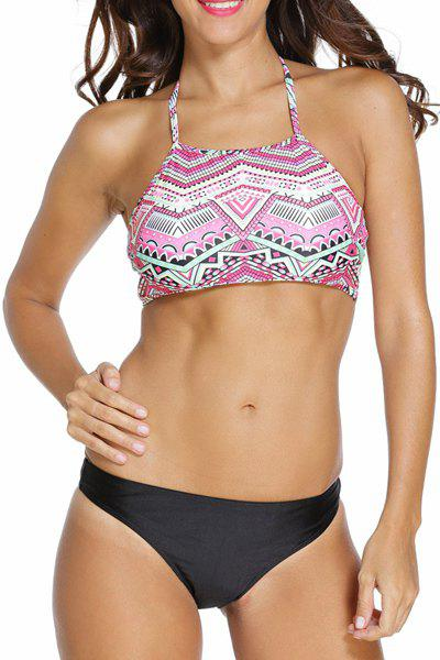 Stylish Spaghetti Straps Tribal Print Women's Bikini Set