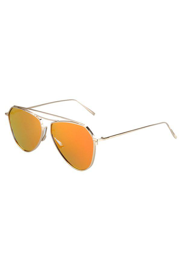 Chic Golden Alloy Sunglasses For Women - GOLDEN