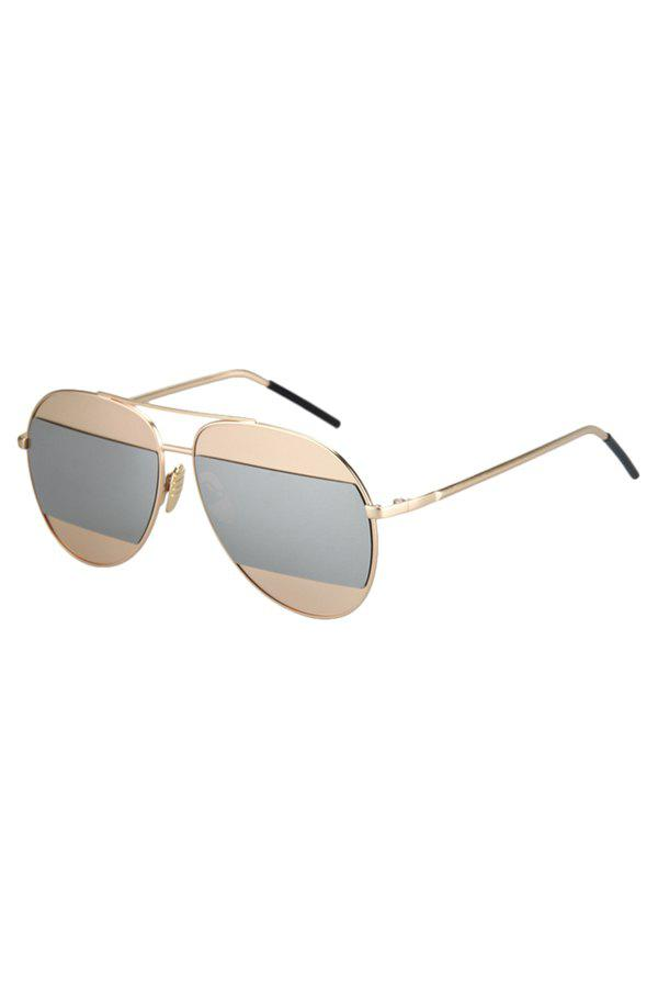 Chic Irregular Lenses Golden Alloy Sunglasses For Women - SILVER