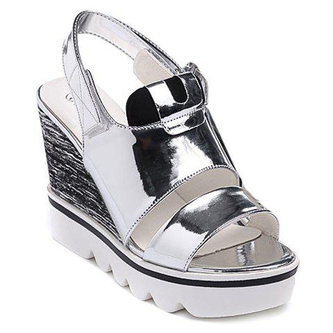 Fashionable  and Patent Leather Design Women's Sandals