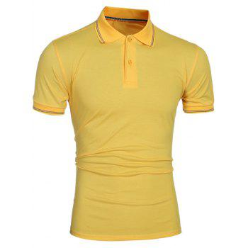 Laconic Turn-down Collar Colorful Stripes Men's Short Sleeves Polo T-Shirt