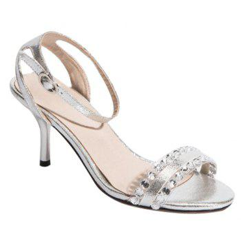 Fashionable Transparent Plastic and Rhinestones Design Women's Sandals