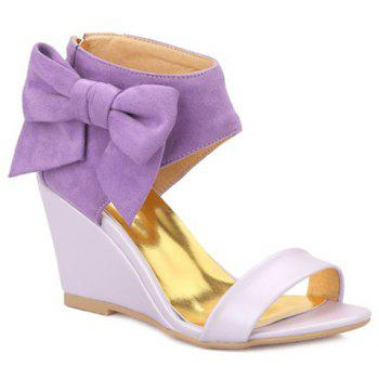 Trendy Bow and Zipper Design Women's Sandals