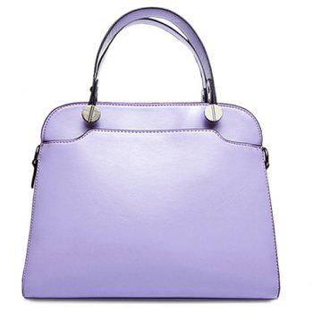 Candy Color Solid Color and Metal Design Women's Tote Bag