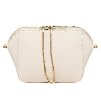 Casual Solid Color and Chain Design Women's Crossbody Bag