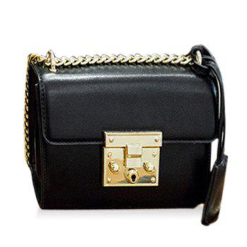 Stylish Hasp and Black Design Women's Crossbody Bag