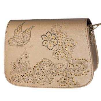 Vintage Engraving and Hollow Out Design Women's Crossbody Bag