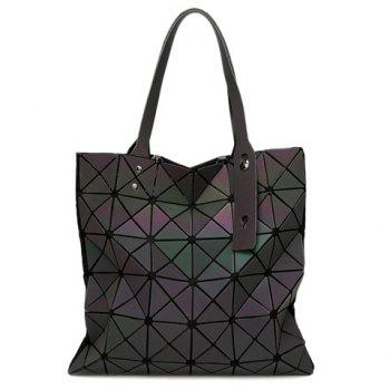 Casual Zip and Geometrical Design Women's Shoulder Bag