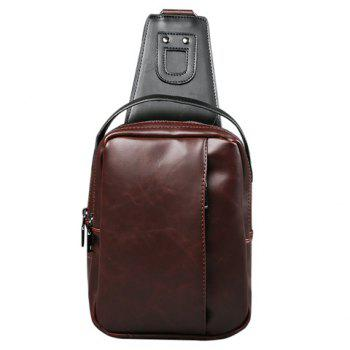Zippers Design Messenger Bag For Men