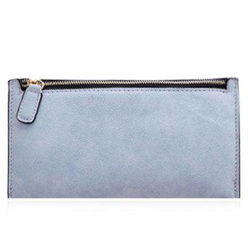 Simple Zip and Candy Color Design Women's Wallet - LIGHT BLUE LIGHT BLUE