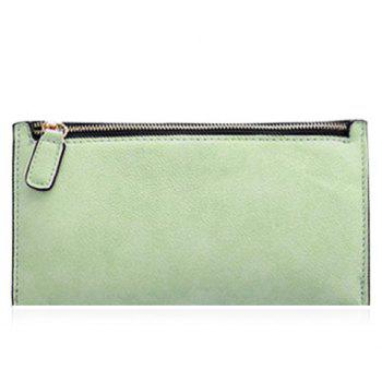 Simple Zip and Candy Color Design Women's Wallet - LIGHT GREEN LIGHT GREEN