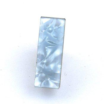 Stylish Abstract Rectangle Embellished Men's Light Blue Alloy Tie Clip