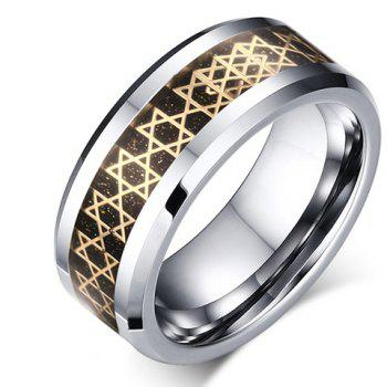 Hexagram Printed Tungsten Carbide Ring
