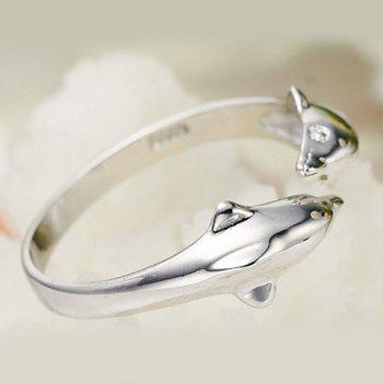 Dolphin Opening Ring - SILVER