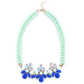 Water Drop Multilayered Beads Necklace