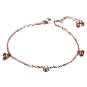 Fresh Rhinestone Small Bell Anklet For Women